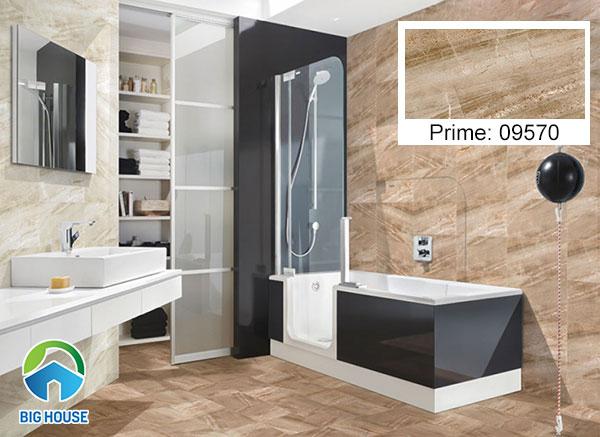 gạch ốp tường Prime 09570 họa tiết vân đá marble màu nâu