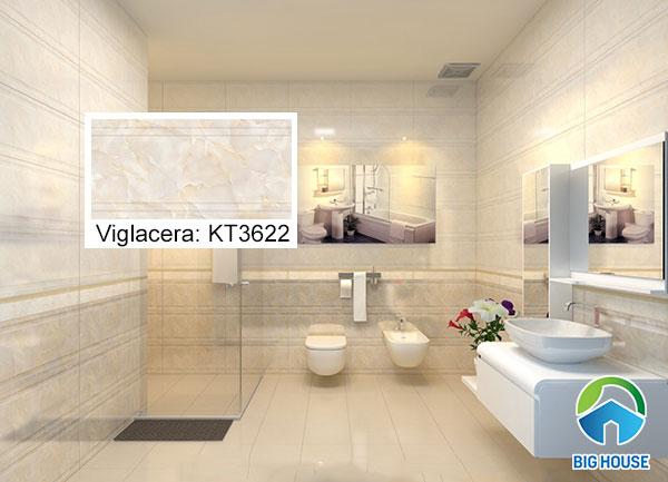 gạch ốp tường giả đá Viglacera KT3622 tone màu xám tự nhiên