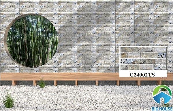 Mẫu gạch ốp tường Ý Mỹ C24002TS vân đá giả cổ sang trọng