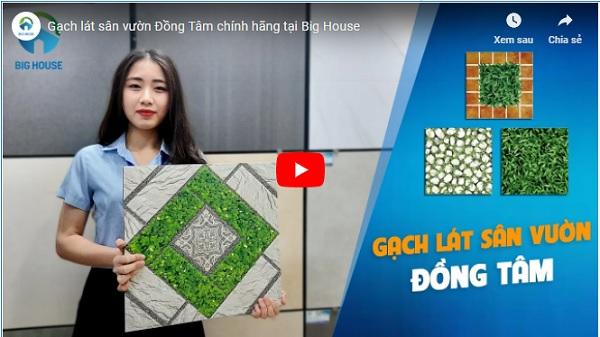 video thực tế các mẫu gạch lát sân vườn Đồng Tâm
