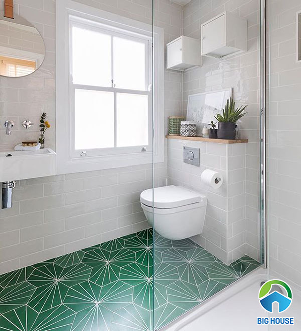 Gạch hoa văn lục giác lát nhà vệ sinh