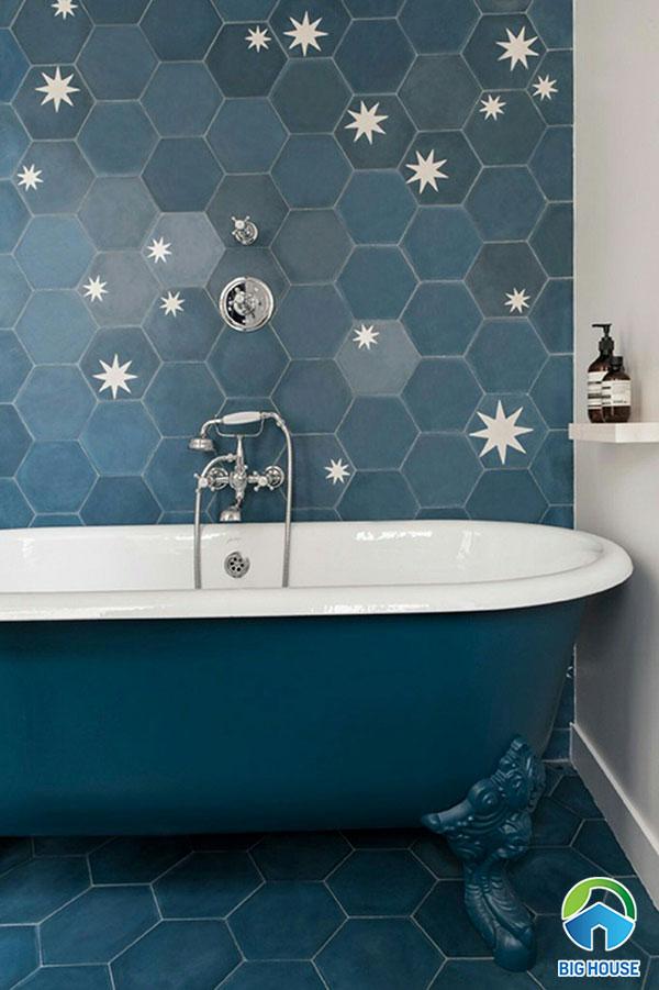Gạch lục giác ốp tường nhà tắm