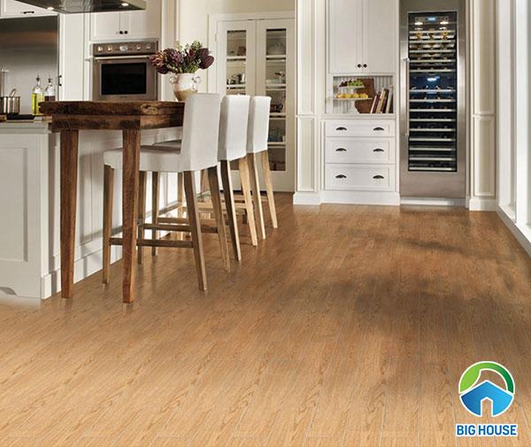 Gạch vân gỗ lát nền nhà bếp