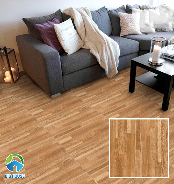 Mẫu gạch vân gỗ lát nền phòng khách Prime 09785