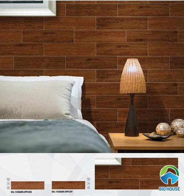 Mẫu gạch vân gỗ ốp tường phòng ngủ Prime 09538 - 09539