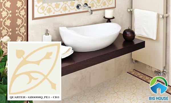 Gạch lát nền nhà tắm Đồng Tâm QUARTER - GB0098Q_PE1 - CD3