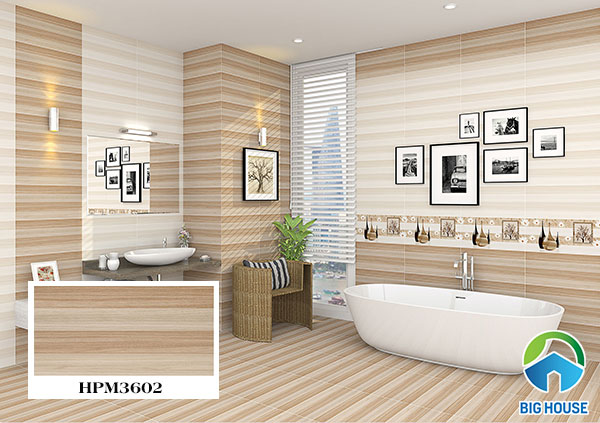 Gạch lát nền nhà tắm đẹp, chống trơn tốt Viglacera HPM3602