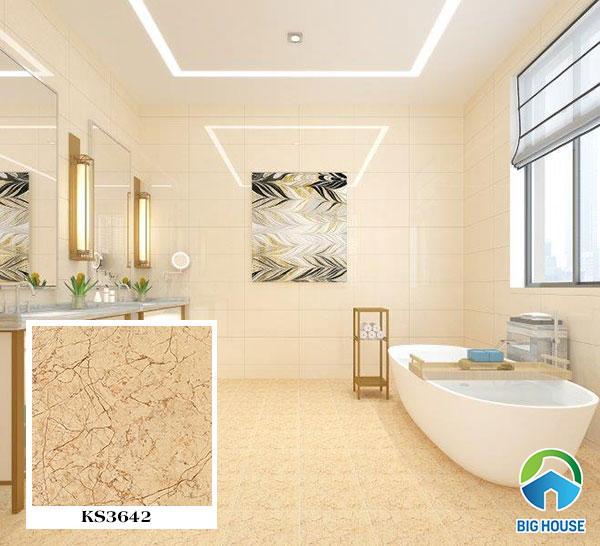 Gạch vân đá lát nền nhà tắm, nhà vệ sinh KS3642