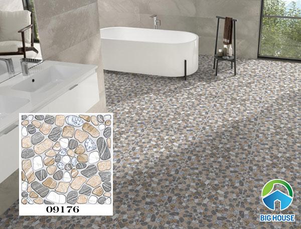 Gạch họa tiết giả sỏi lát nền nhà tắm Prime 09176 bề mặt nhám, định hình