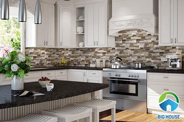 Căn phòng bếp mang phong cách vintage khi ứng dụng mẫu này