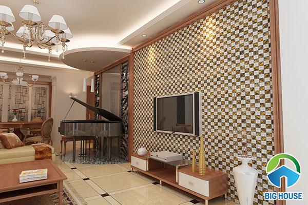 Căn phòng khách mang vẻ đẹp đơn giản và cổ điển