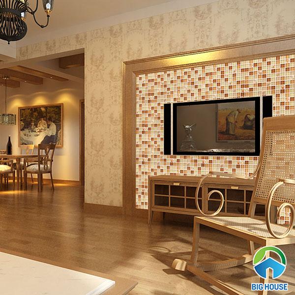 Căn phòng khách mang phong cách sang trọng, hiện đại