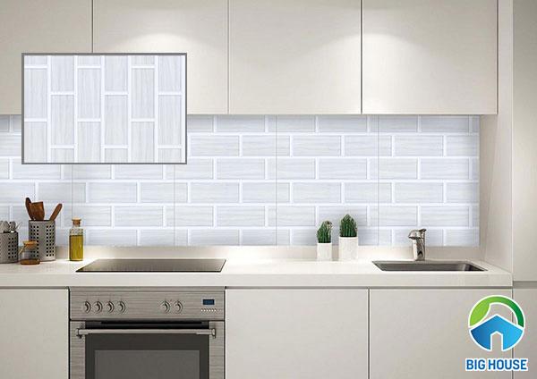 Gạch KT4508 ốp tường màu xám họa tiết gạch thẻ
