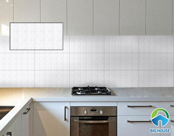 Mẫu gạch ốp tường bếp Viglacera ECO M-36908 màu trắng,men khô