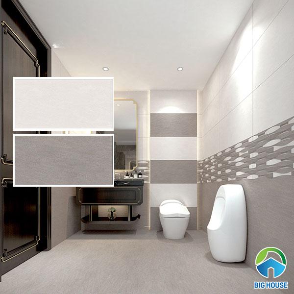 Bộ gạch ốp nhà vệ sinh Tasa 4973 - 4975 màu xám