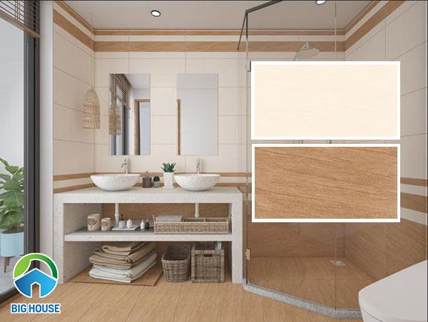 Gạch ốp tường nhà vệ sinh Vitto mẫu đậm (2707) và mẫu nhạt (2709)