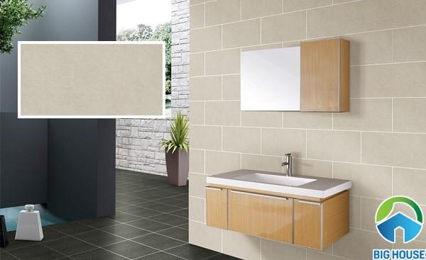 Mẫu gạch ốp tường nhà tắm Đồng Tâm 3060taybac005 nâu nhạt đơn giản