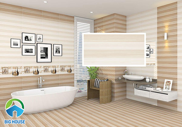 Mẫu gạch ốp tường nhà vệ sinh Viglacera HP-M3601 họa tiết kẻ sọc vân gỗ