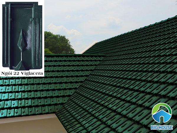 ngói lợp nhà màu xanh 22 Viglacera Hạ Long