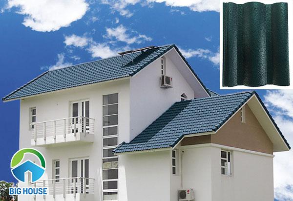 Ngói màu Đồng Tâm LOPNLLS509 thiết kế kiểu sóng lớn, màu xanh lá mang đến cảm giác mát mẻ, thoải mái.