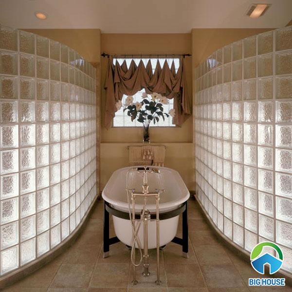 gạch kính ốp vách ngăn nhà tắm