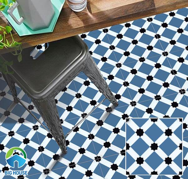 Mẫu gạch bông lát sàn màu xanh ZE2231