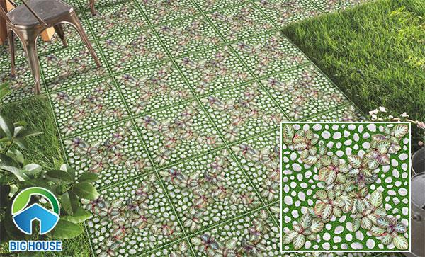 Mẫu gạch cỏ mang màu xanh tự nhiên Đồng Tâm 4040GREENERY004
