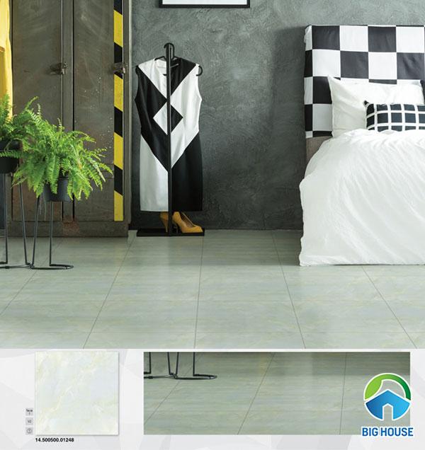 Gạch lát nền phòng ngủ Prime 10248 họa tiết vân đá màu xanh