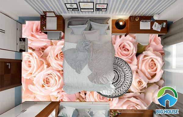 Mẫu gạch lát nền phòng ngủ đẹp 3D mã MPN03
