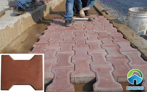 Mẫu gạch block hình chữ I