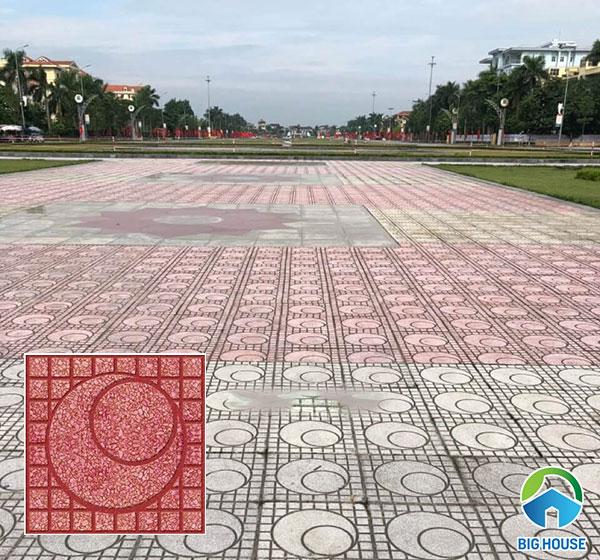 gạch lát vỉa hè terrazzo QP4 kích thước 40x40