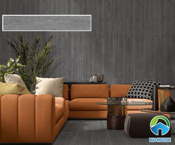 mẫu gạch ốp tường phòng khách vân gỗ