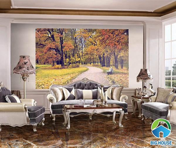 Gạch 3D ốp tường phòng khách 30x60 mã 09611