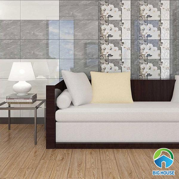 Gạch ốp tường phòng khách Vitto 2076 - 2075 - 2074