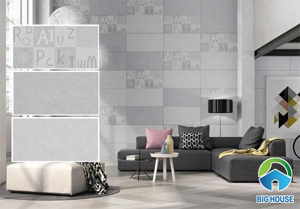 mẫu gạch ốp tường phòng khách đẹp 2020