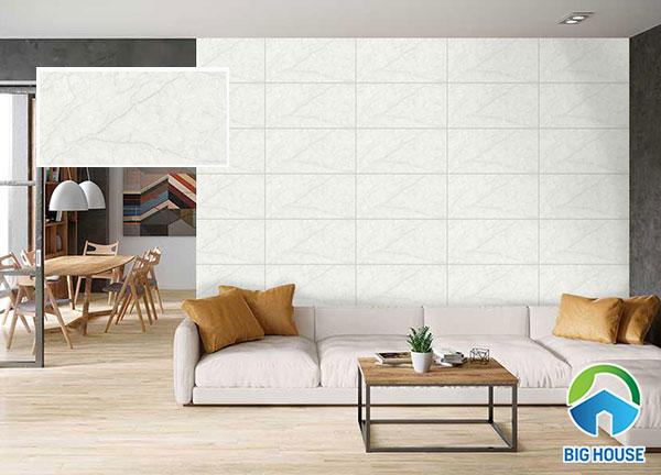 Hình ảnh gạch ốp tường phòng khách vân đá 3060AMBER002