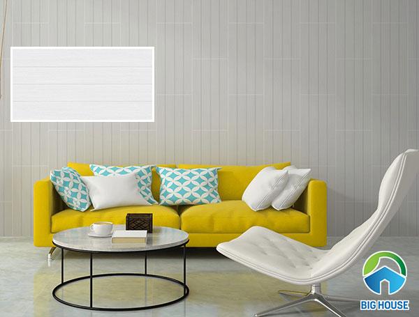 Gạch ốp tường Vitto 5777 màu trắng, họa tiết vân gỗ
