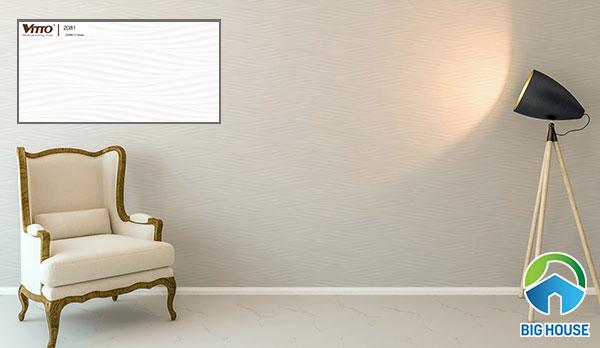 Mẫu gạch ốp tường Vitto 2081 họa tiết lượn sóng