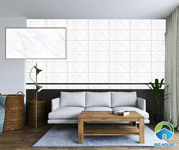 gạch ốp tường phòng khách màu trắng Viglacera UB3603