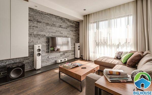 Mẫu gạch vân gỗ màu xám mang phong cách cổ điển