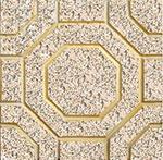 Gạch terrazzo lát vỉa hè bát giác vàng