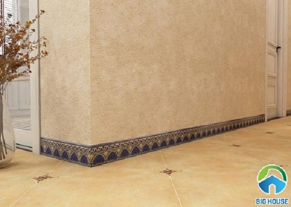 Gạch viền chân tường Trung Quốc họa tiết hoa văn cổ điển