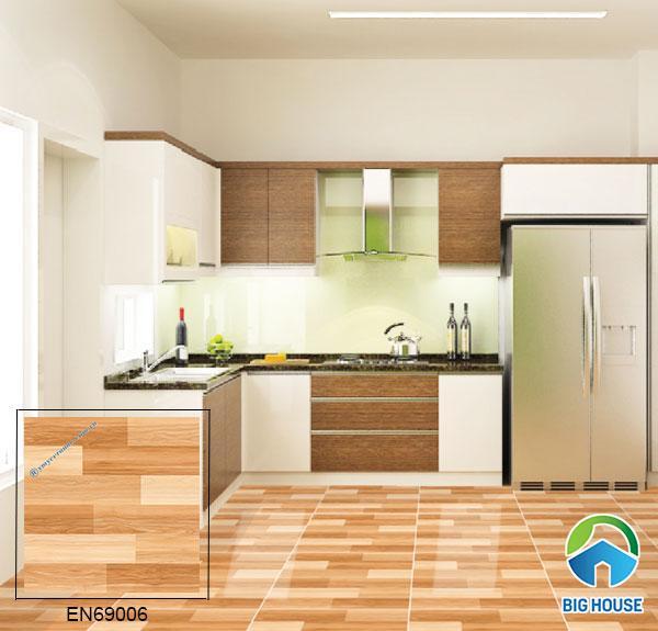 Mẫu gạch vân gỗ EN69006 họa tiết chân thực tự nhiên, ấm cúng