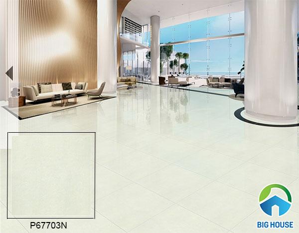mẫu gạch bóng kiếng Taicera gam màu trắng xanh P67703N