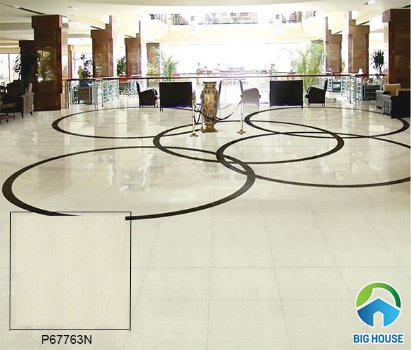 gạch lát nền bóng kiếng P67763N cho sảnh khách sạn