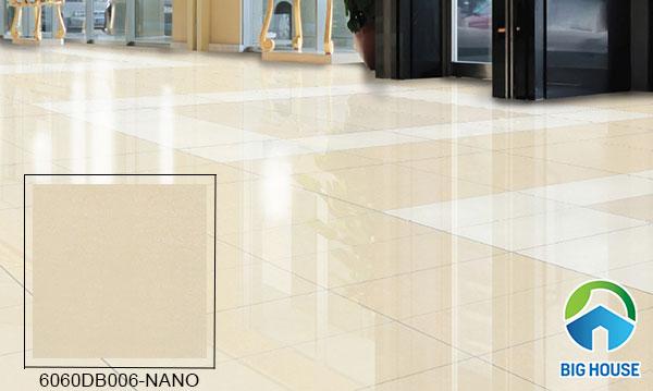 gạch lát nền bóng kiếng Đồng Tâm 6060DB006-NANO tông màu vàng kem