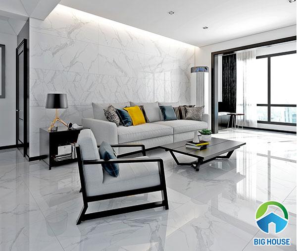 gạch lát màu trắng Vitto 3603F3 vân đá kích thước 60x120
