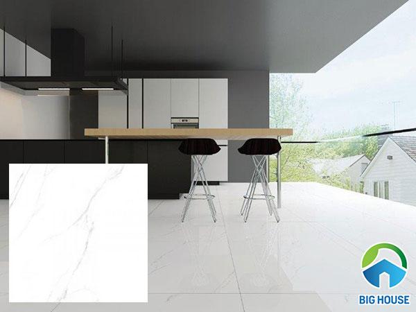 gạch lát nền màu trắng vân đá Viglacera ECO S601