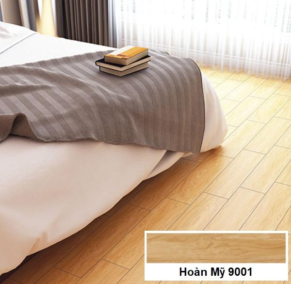 gạch lát nền phòng ngủ giả gỗ hoàn mỹ 9001