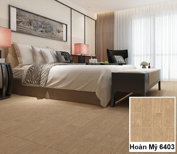 Gạch Hoàn mỹ 6403 màu vân gỗ cho phòng ngủ thêm sang trọng
